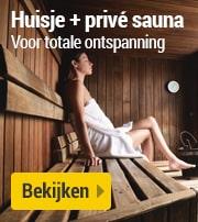 Huisje met privé sauna
