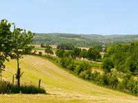 Bungalowparken in een heuvelachtige omgeving