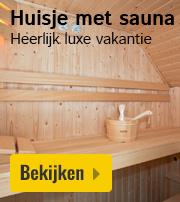 Vakantiehuisje met sauna