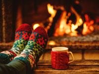 weg tussen kerst en oud en nieuw