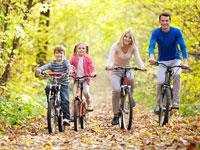Bungalowparken nabij fietsgebied