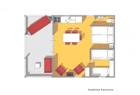 5-persoons bungalow Camphome
